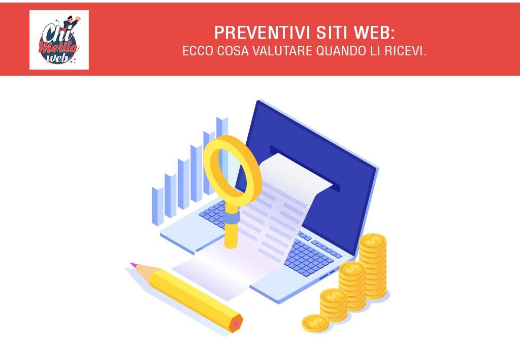 Preventivi siti web. Ecco cosa valutare quando li ricevi